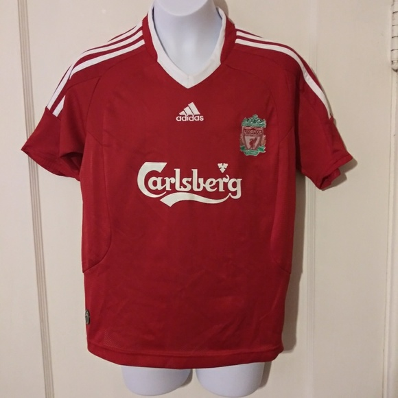 super popular b5c74 ee593 EUC Adidas Carlsberg Liverpool Soccer Jersey